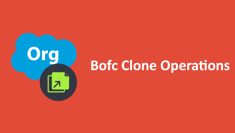 Salesforce BOFC Cloning